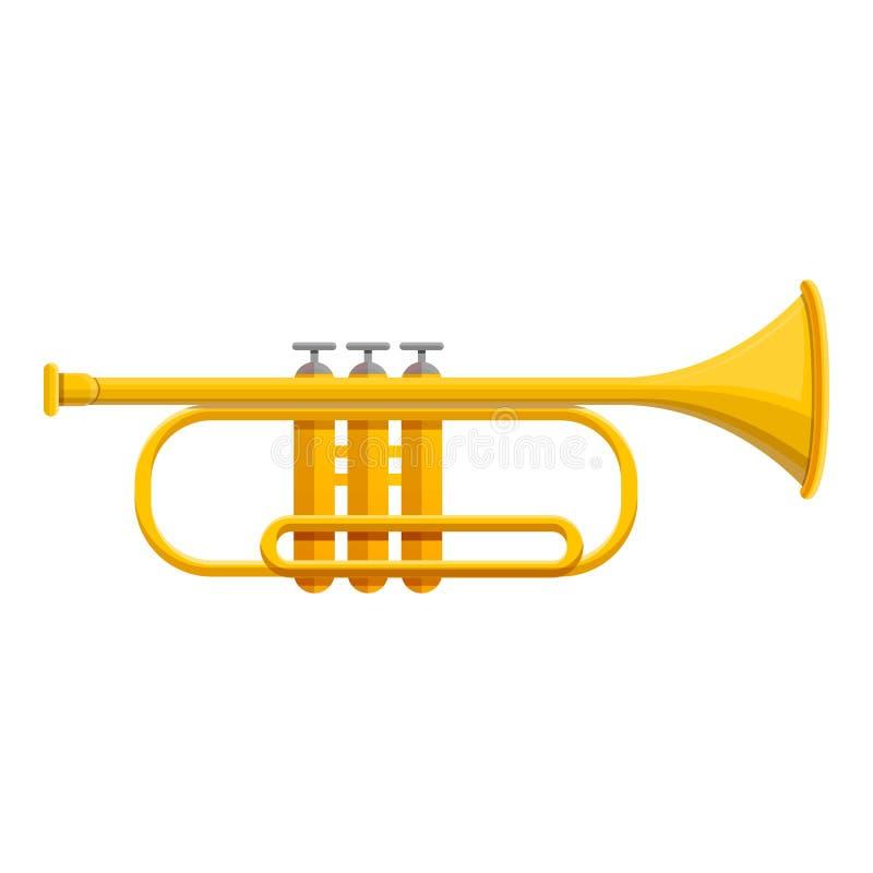 Icône classique de trompette, style de bande dessinée illustration libre de droits