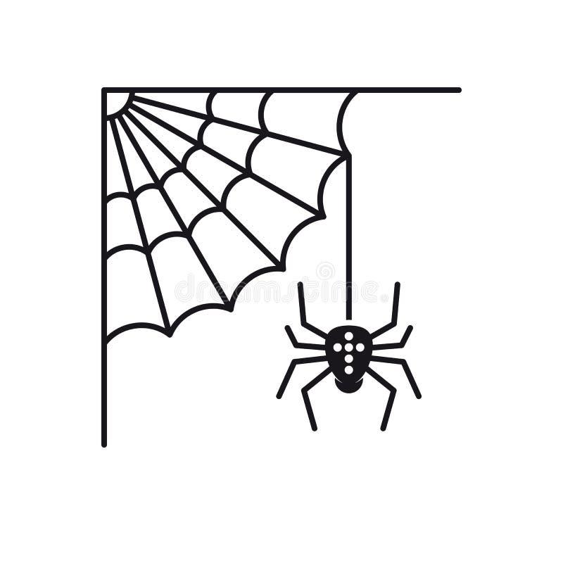 Icône Cobweb et araignée vectorielle illustration stock