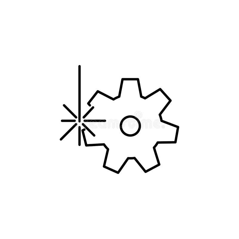 Icône Cogwheel Elément d'application laser en production pour le concept mobile et l'illustration des applications web Icône de l illustration libre de droits