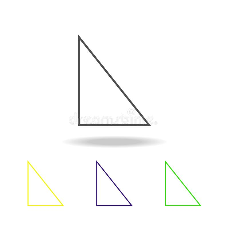 icône colorée de bonne triangle Peut être employé pour le Web, logo, l'appli mobile, UI, UX illustration libre de droits