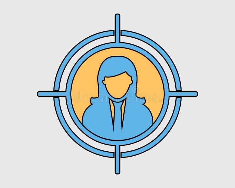 Icône colorée de public cible illustration de vecteur