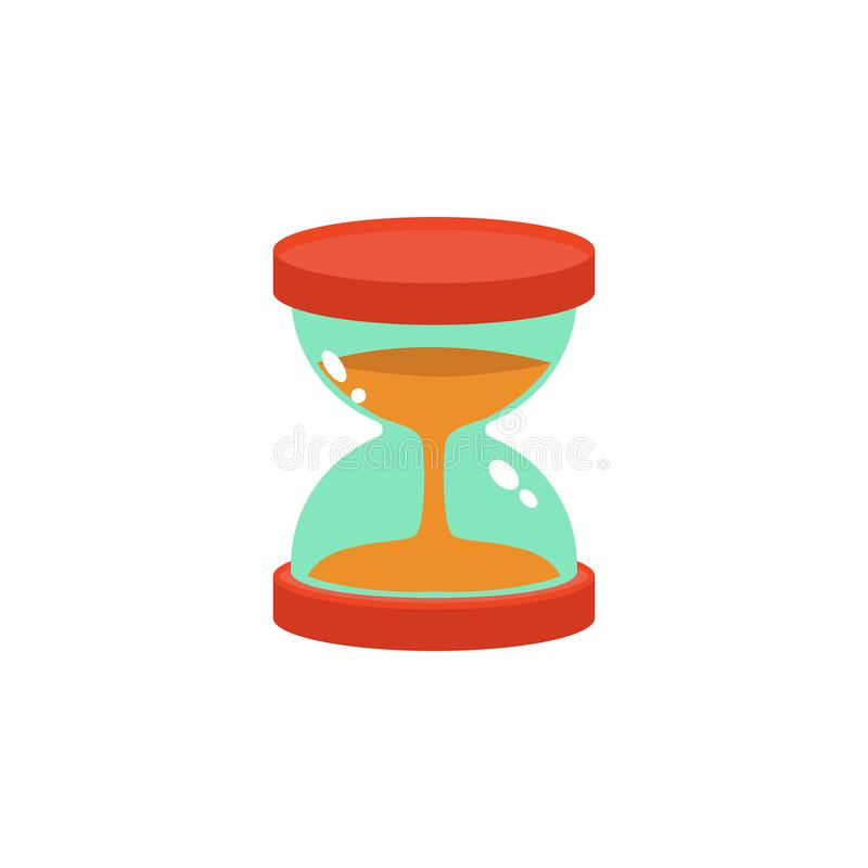 icône colorée de sablier Élément de la science et de laboratoire pour les apps mobiles de concept et de Web L'icône détaillée de  illustration de vecteur