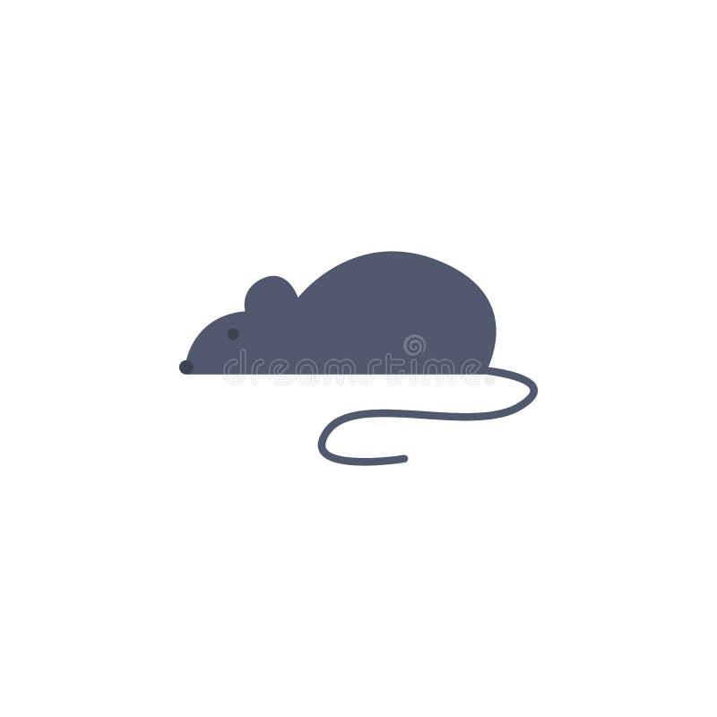 icône colorée de souris de laboratoire Élément de la science et de laboratoire pour les apps mobiles de concept et de Web Icône d illustration de vecteur