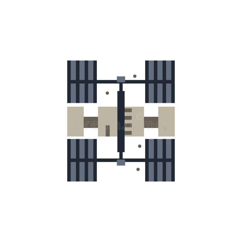 Icône colorée de station spatiale Élément d'illustration de l'espace Des signes et l'icône de symboles peuvent être employés pour illustration libre de droits