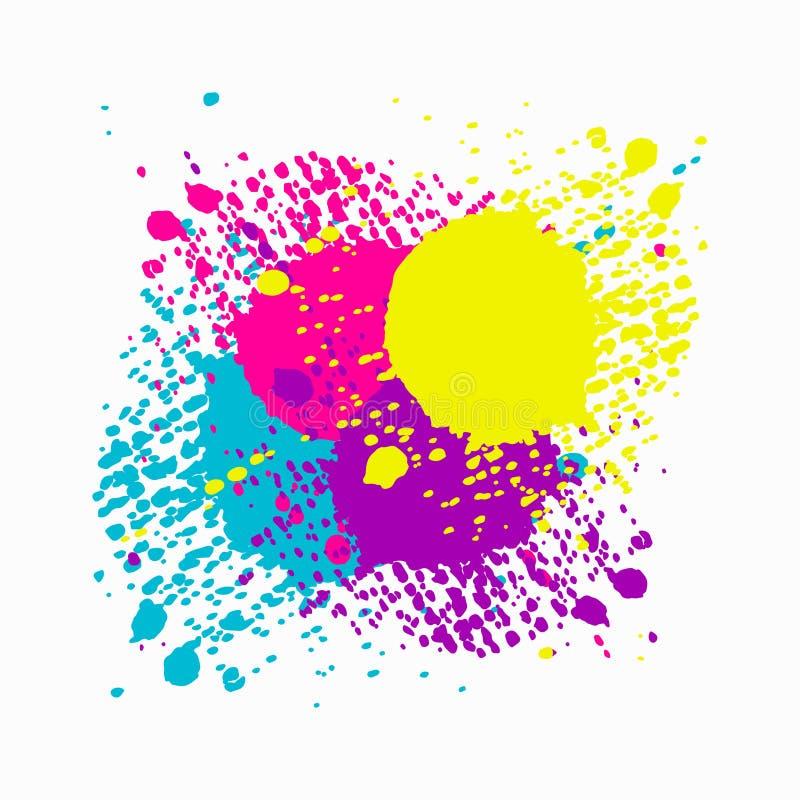 Icône colorée de taches Illustration d'isolement plate pour votre conception web illustration de vecteur