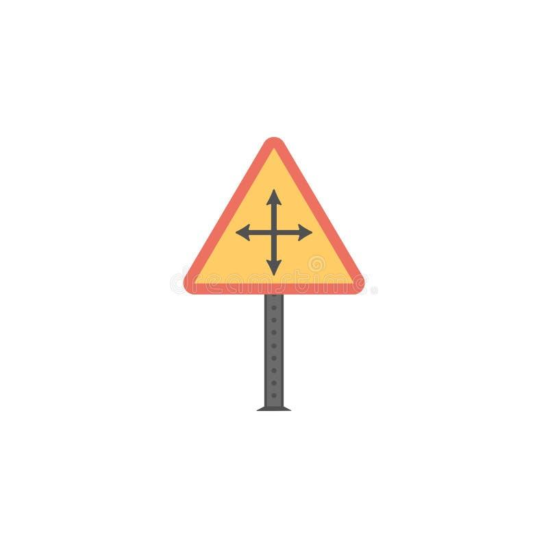 Icône colorée de temps grave Élément des panneaux routiers et de l'icône de jonctions pour les apps mobiles de concept et de Web  illustration libre de droits