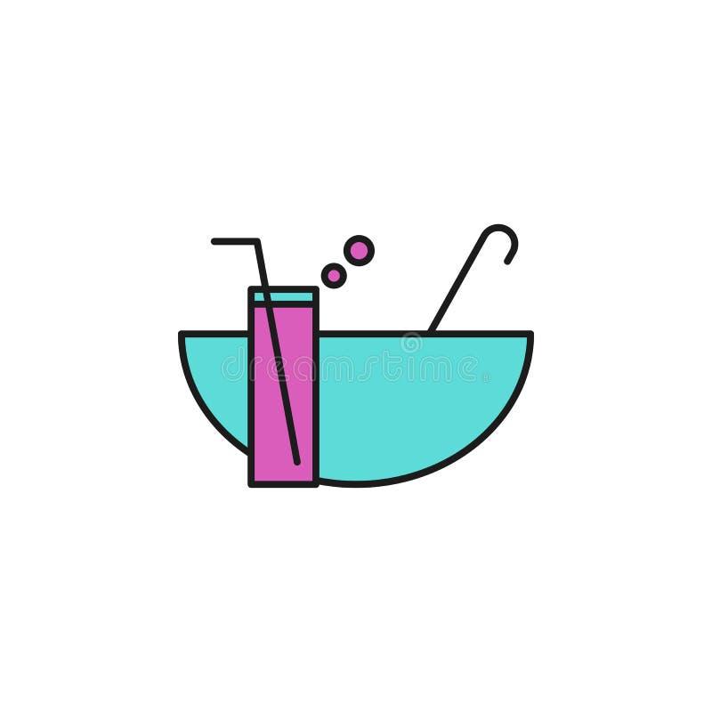 icône colorée par poinçon Élément d'icône de fête d'anniversaire pour les apps mobiles de concept et de Web L'icône colorée de po illustration stock