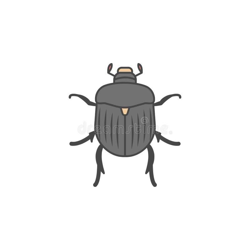 Icône colorée par scarabée d'ensemble Une des icônes de collection pour des sites Web, web design, APP mobile illustration libre de droits