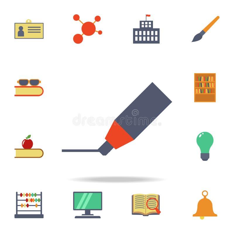 icône colorée par stylo feutre Ensemble détaillé d'icônes colorées d'éducation Conception graphique de la meilleure qualité Une d illustration stock