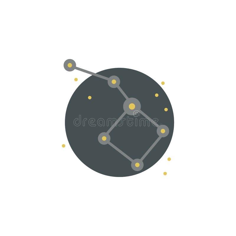 Icône colorée principale d'Ursa Élément d'illustration de l'espace Des signes et l'icône de symboles peuvent être employés pour l illustration de vecteur