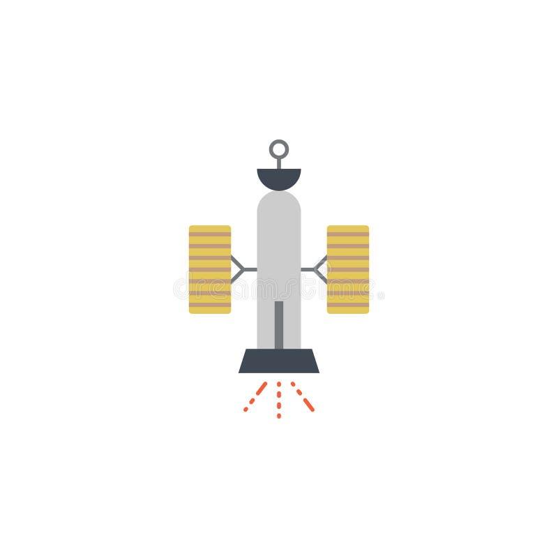 Icône colorée satellite Élément d'illustration de l'espace Des signes et l'icône de symboles peuvent être employés pour le Web, l illustration stock