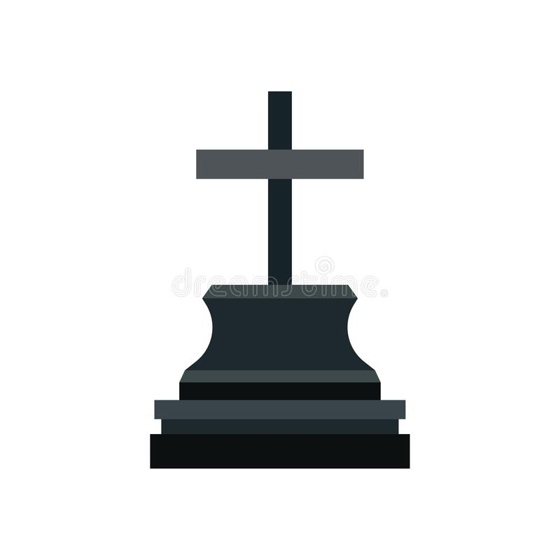 Icône commémorative de vecteur de vacances de Halloween de monument de noir grave de conception Déchirure de mystère de pictogram illustration de vecteur