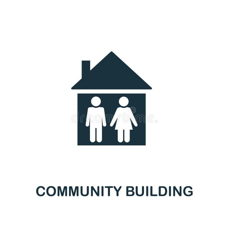 Icône Community Building Création d'éléments à partir de la collection d'icônes Icône Pixel parfait Community Building pour le de illustration libre de droits