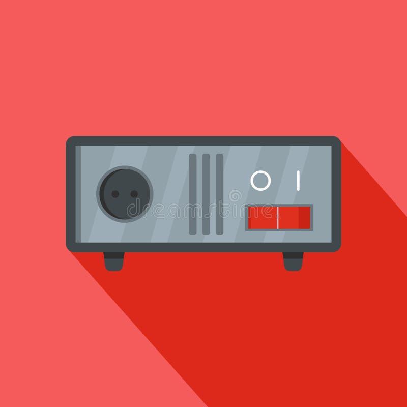 Icône commutée d'équipement, style plat illustration stock