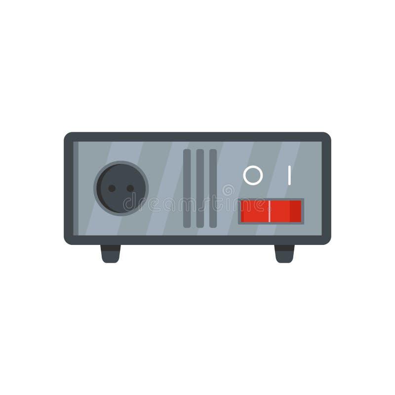 Icône commutée d'équipement, style plat illustration de vecteur