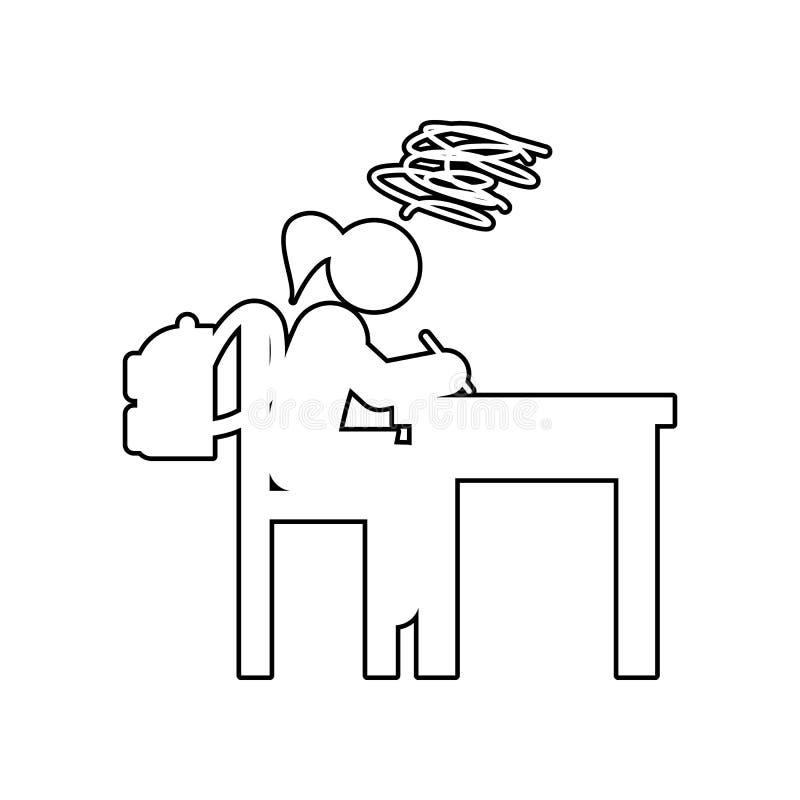 icône complexe de pensées Élément de nouveau à école pour le concept et l'icône mobiles d'applis de Web Contour, ligne mince icôn illustration de vecteur