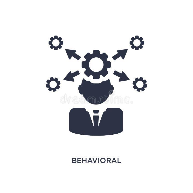 icône comportementale de compétence sur le fond blanc Illustration simple d'élément de concept de ressources humaines illustration de vecteur