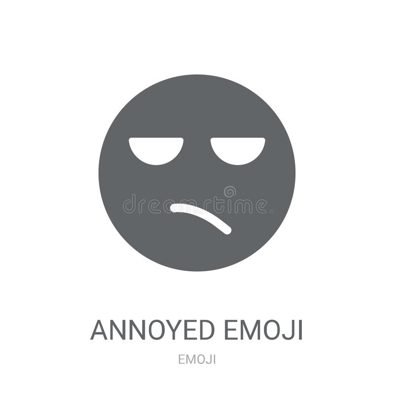 Icône contrariée d'emoji  illustration de vecteur