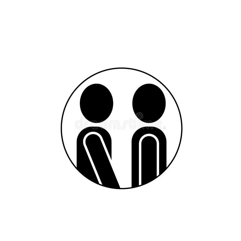 Icône, conversation, la parole, bulle, entretien, symbole, illustration, signe, message, causerie, communication, conception, dia illustration libre de droits