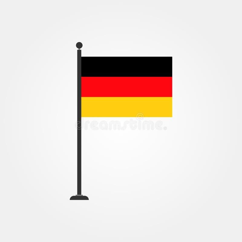 Icône courante 4 de drapeau de l'Allemagne de vecteur illustration stock