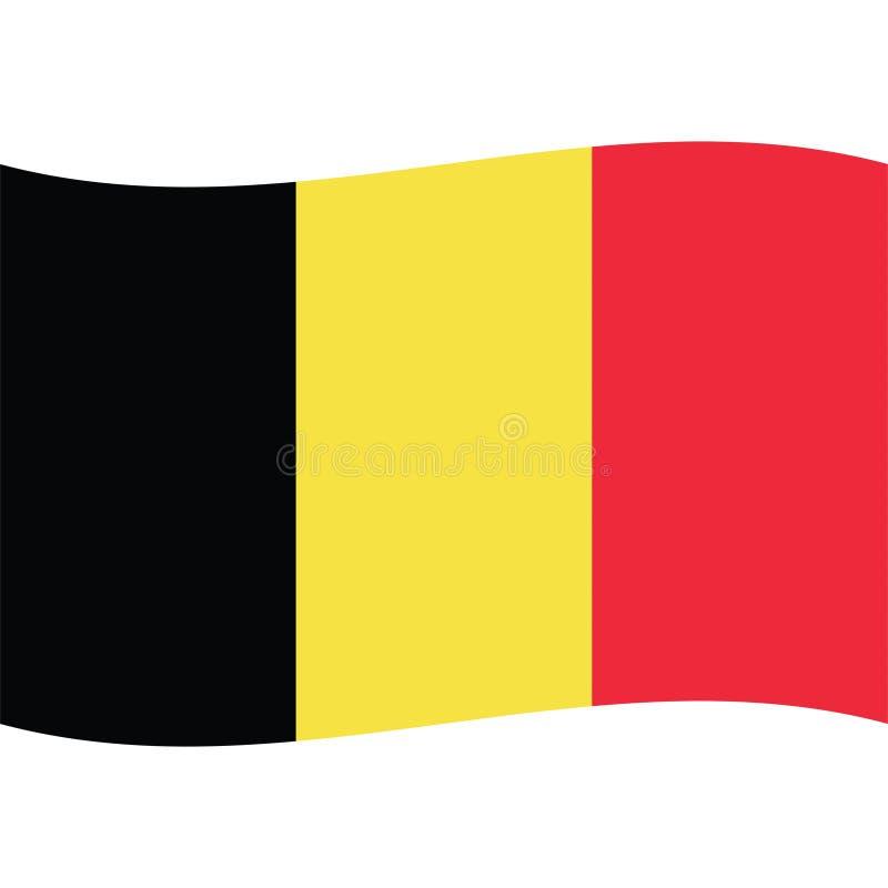 Icône courante 2 de drapeau de la Belgique de vecteur illustration libre de droits