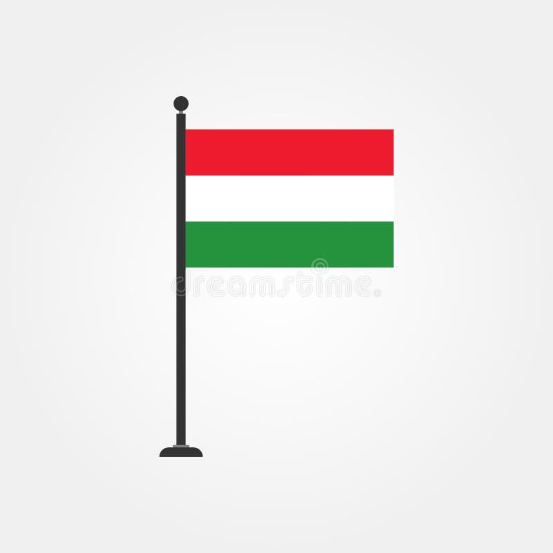 Icône courante 3 de drapeau de la Hongrie de vecteur illustration de vecteur