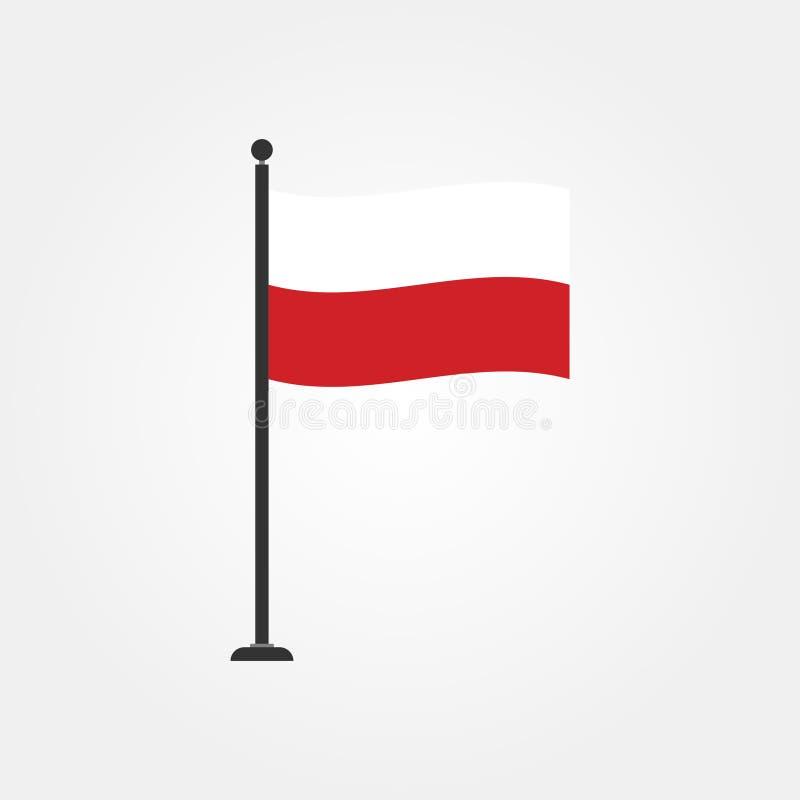 Icône courante 4 de drapeau de la Pologne de vecteur illustration stock
