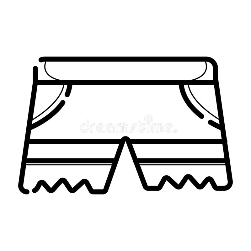 Icône courte de vecteur illustration stock