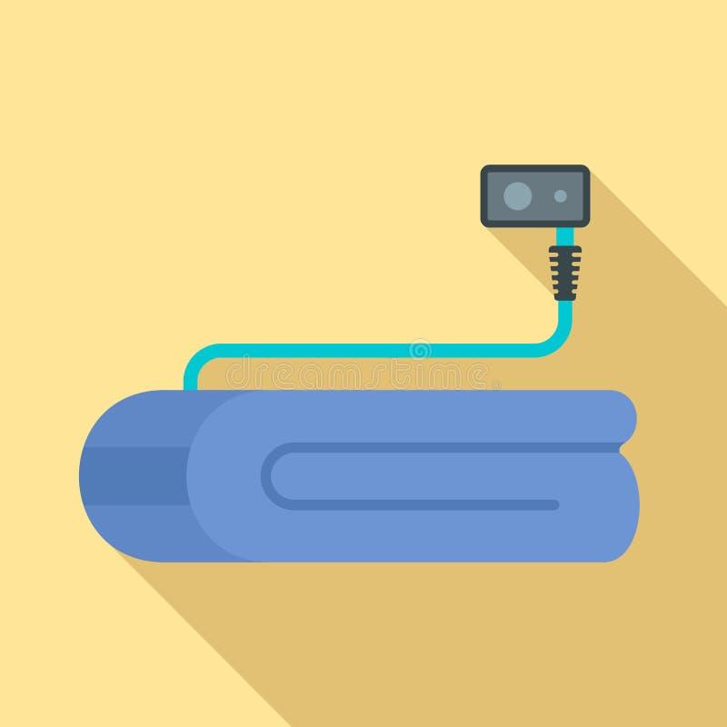 Icône couvrante électrique de dispositif, style plat illustration libre de droits