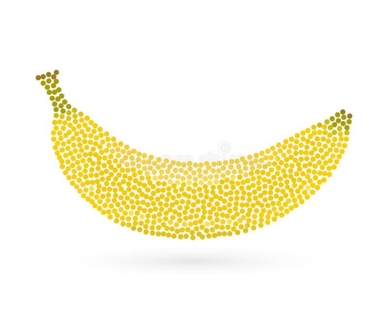Icône créative abstraite de concept de la banane pour le Web et l'appli mobile d'isolement sur le fond Conception de calibre d'il illustration de vecteur