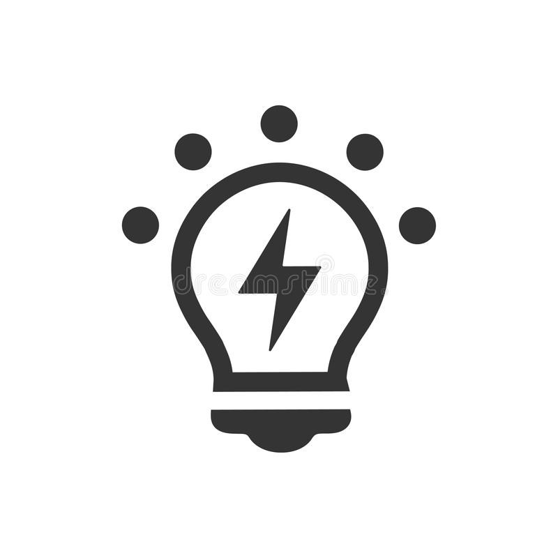 Icône créative d'idée illustration stock