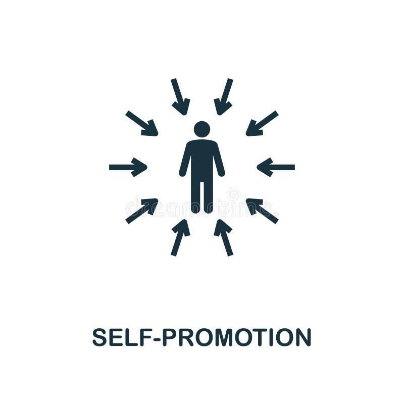 Icône créative de confiance en soi Illustration simple d'élément Conception de symbole de concept de confiance en soi de la colle photo stock