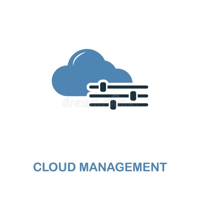 Icône créative de gestion de nuage dans deux couleurs Conception de la meilleure qualité de style de collection d'icônes de dével illustration libre de droits