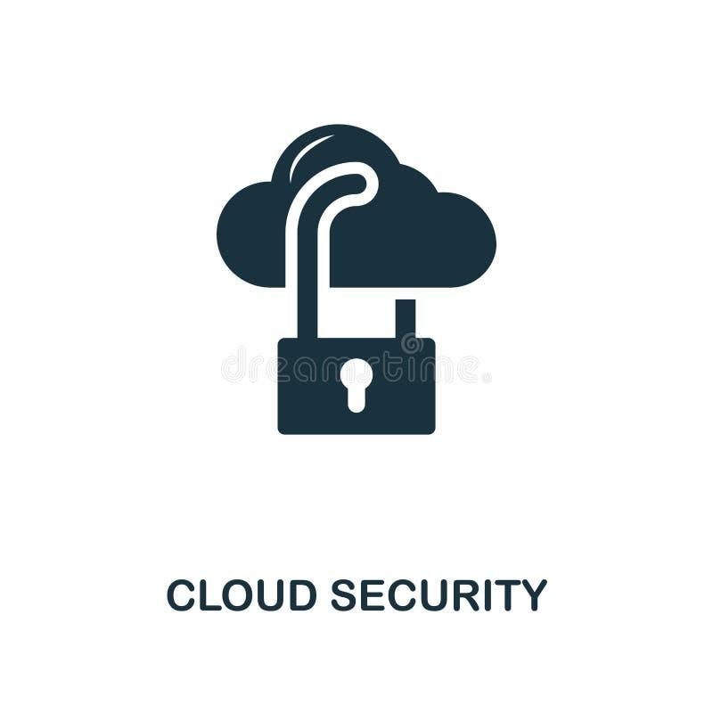 Icône créative de sécurité de nuage Illustration simple d'élément Conception de symbole de concept de sécurité de nuage de collec illustration libre de droits