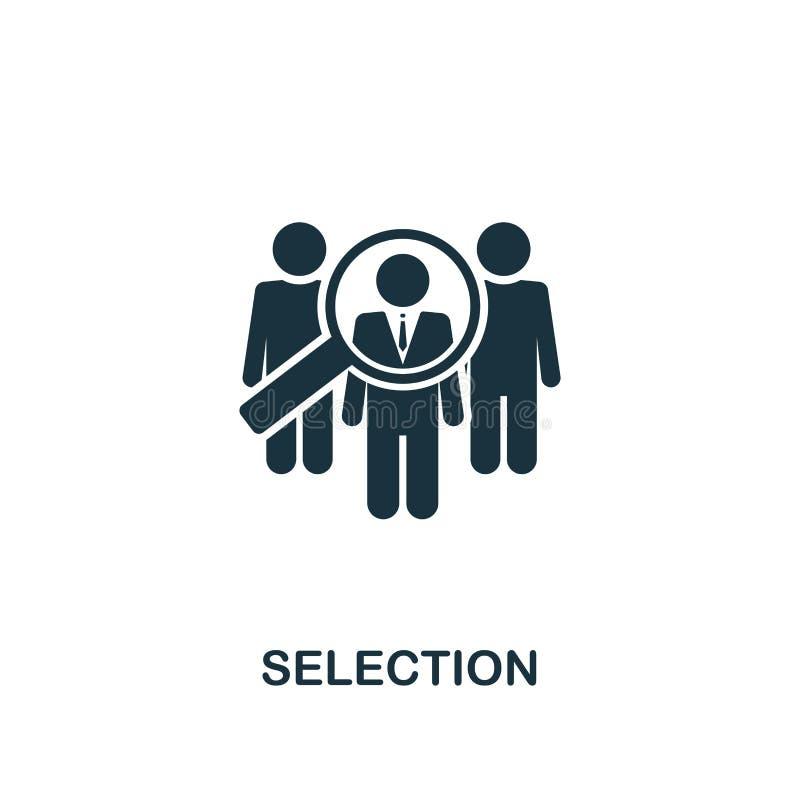 Icône créative de sélection Illustration simple d'élément Conception de symbole de concept de sélection de collection de ressourc illustration de vecteur