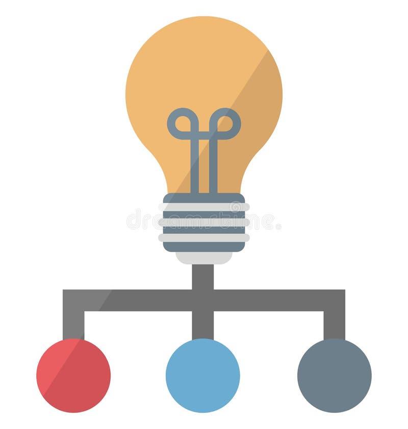 Icône créative de vecteur de concept de réseau qui peut facilement modifier ou éditer illustration de vecteur