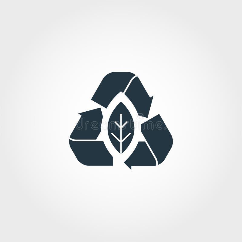 Icône créative de Zero Emission Conception monochrome de style de collection d'icônes d'urbanism Icône de Zero Emission pour la c illustration stock