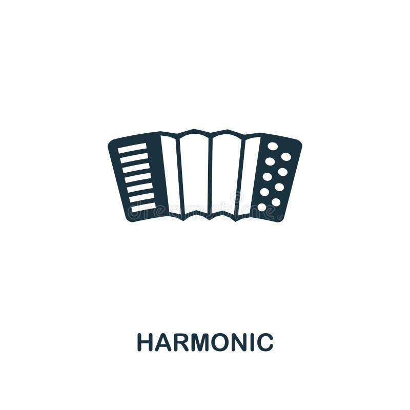 Icône créative harmonique Illustration simple d'élément Conception harmonique de symbole de concept de collection d'icône de part illustration libre de droits