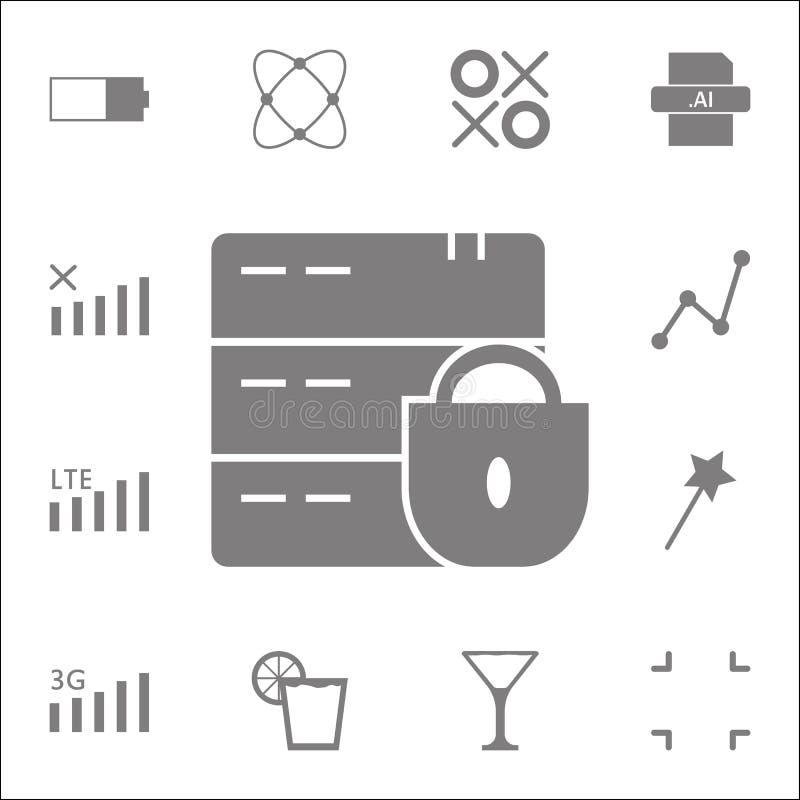 Icône criquée/cassée de serrure Ensemble détaillé d'icônes minimalistic Signe de la meilleure qualité de conception graphique de  illustration stock