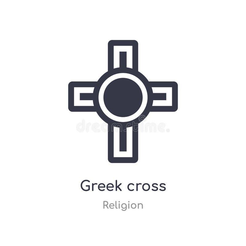 icône croisée grecque illustration croisée grecque d'isolement de vecteur d'icône de collection de religion editable chantez le s illustration libre de droits