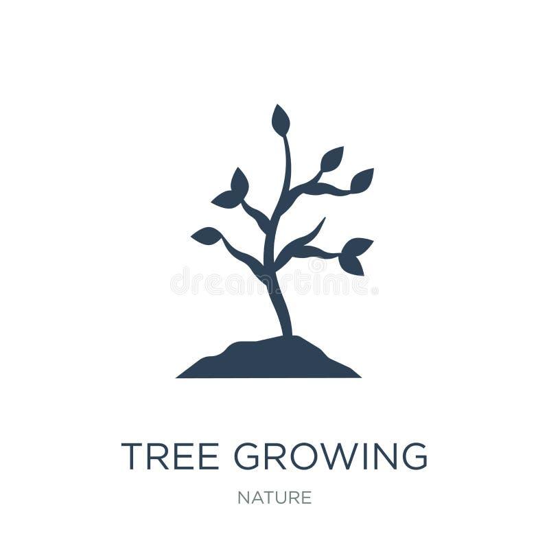 icône croissante d'arbre dans le style à la mode de conception icône croissante d'arbre d'isolement sur le fond blanc icône crois illustration stock