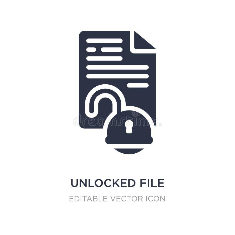 icône débloquée de dossier sur le fond blanc Illustration simple d'élément de concept de sécurité illustration de vecteur