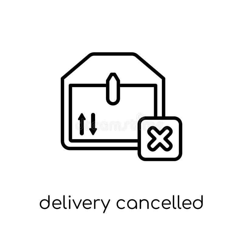 Icône décommandée par livraison  illustration de vecteur