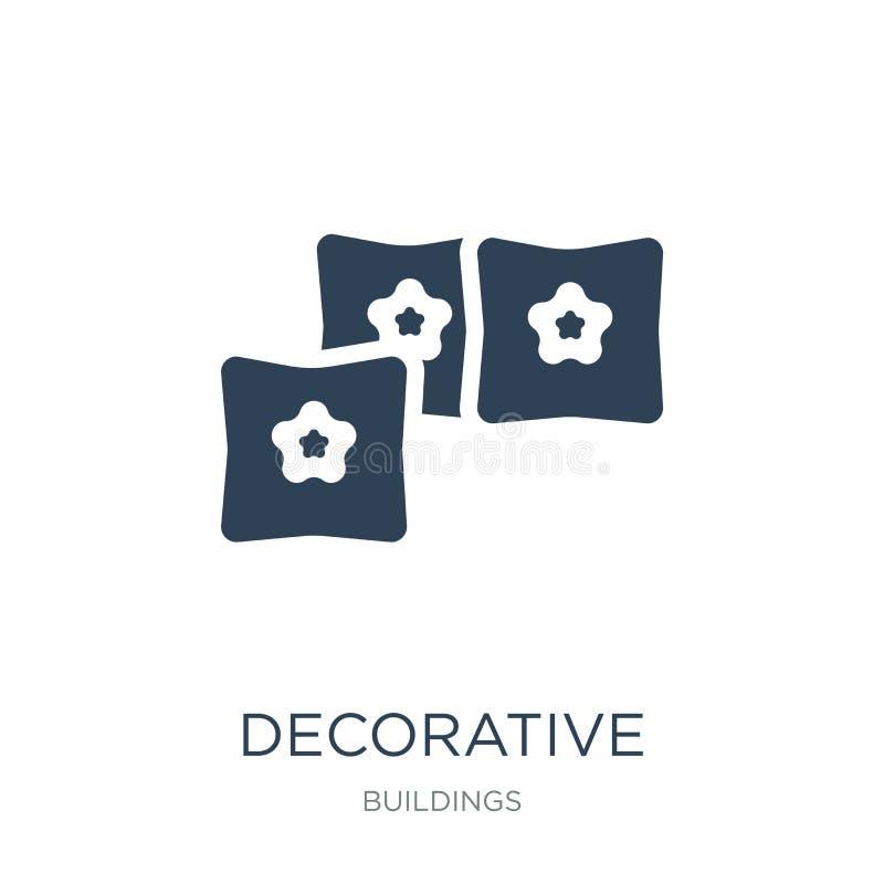 icône décorative de coussins dans le style à la mode de conception icône décorative de coussins d'isolement sur le fond blanc vec illustration stock