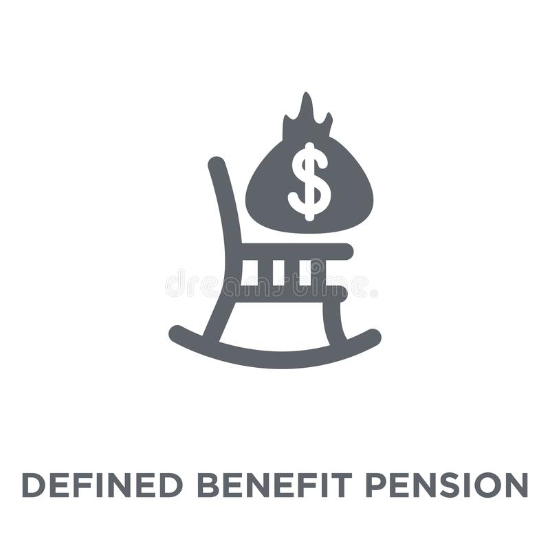 Icône définie de pension d'avantage de collec défini de pension d'avantage illustration de vecteur