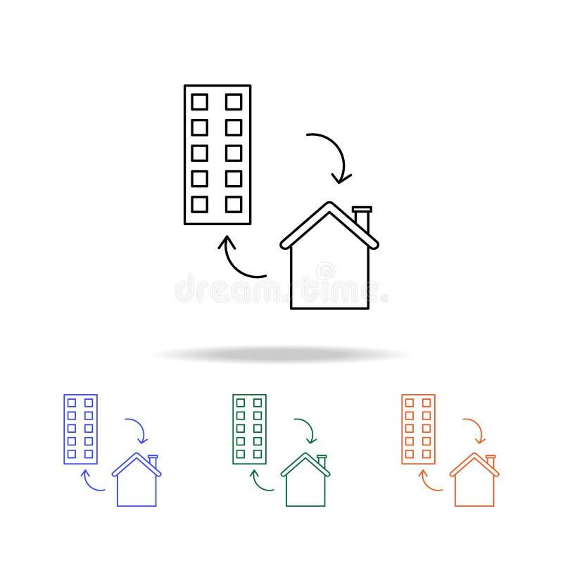 Icône d'échange de Chambre Éléments des immobiliers dans les icônes colorées multi Icône de la meilleure qualité de conception gr illustration libre de droits