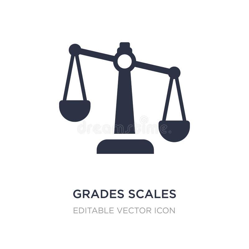 icône d'échelles de catégories sur le fond blanc Illustration simple d'élément de notion générale illustration libre de droits