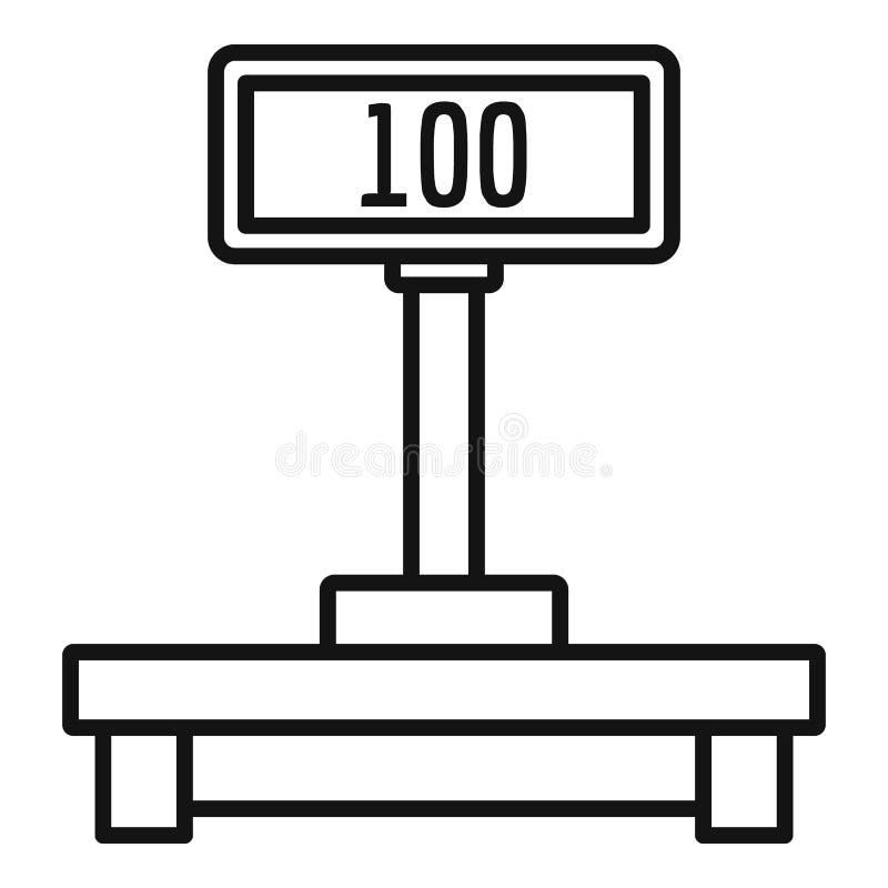 Icône d'échelles de courrier de Digital, style d'ensemble illustration stock