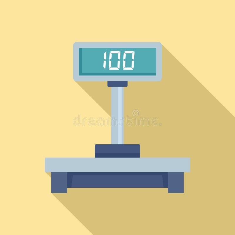 Icône d'échelles de courrier de Digital, style plat illustration libre de droits