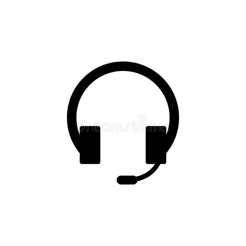 Icône d'écouteur de soutien de ligne directe Des signes et les symboles peuvent être employés pour le Web, logo, l'appli mobile,  illustration de vecteur